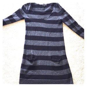 Express light weight striped sweater dress